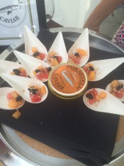 Melon & caviar from Wolfdale's